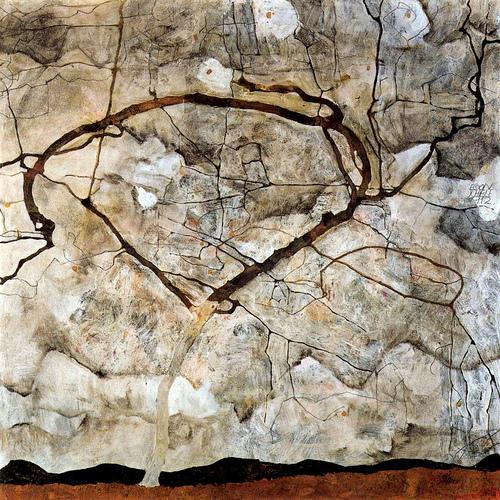 "Egon Schiele ""Autumn Tree in the Wind"""